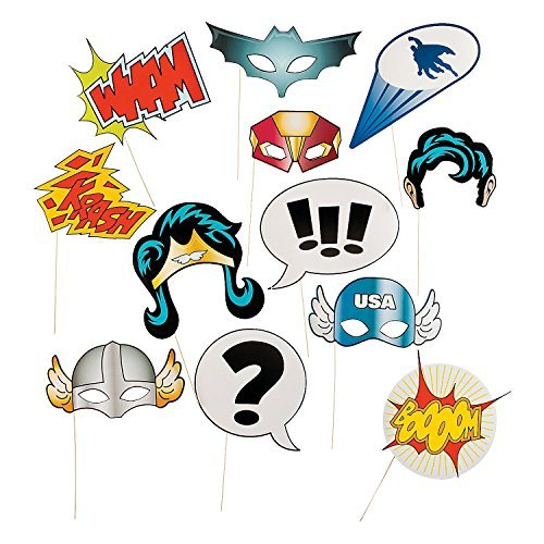 Fun Express 13659365 Super Hero Stick Costume Props for $<!--$4.92-->