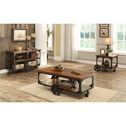 Coaster Furniture Industrial Sofa Table With Shelf And