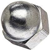 "Zinc Plated Steel Acorn Nut, USA Made, 3/8""-16 Thread Size, 9/16"" Width Across Flats, 5/8"" Height, 3/8"" Minimum Thread Depth (Pack of 25)"