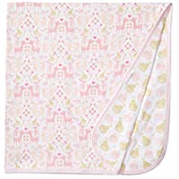 Magnificent Baby Girls' Woodland Damask Reversible Receiving Blanket, Woodlan...