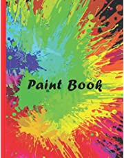 """Paint book for kids: notebook for drawing 110 Pages, 8.5"""" x 11"""" Large WHITE pages"""