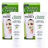 Facial Mask Green - Sudden Change Green Tea Facial Mask 3.4oz (2 Pack)