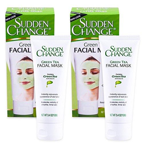 (Sudden Change Green Tea Facial Mask 3.4oz (2 Pack))