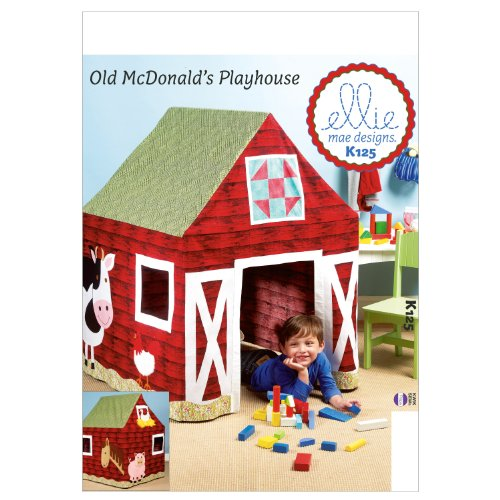 Barn Playhouse Table Sewing Template