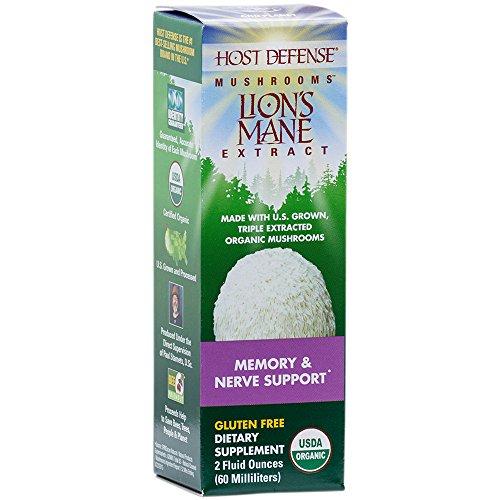 Host Defense - Lion's Mane Extract, Mushroom Support for Memory & Nerves, 60 Servings (2 oz)