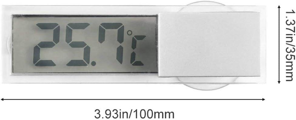 Heaviesk Affichage num/érique LCD Affichage de temp/érature de Pare-Brise de Voiture Thermom/ètre de v/éhicule daspiration Thermom/ètre de r/étroviseur de Voiture