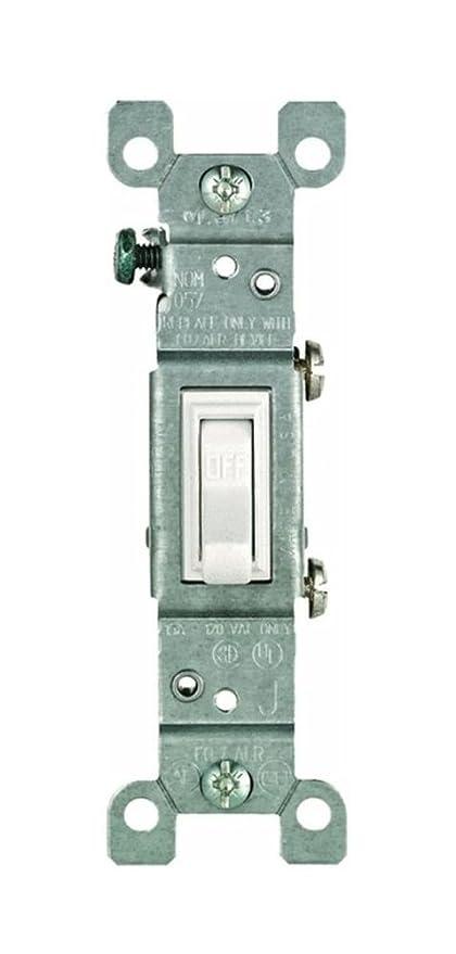 Leviton Toggle Switch Single Pole Co/Alr 15 Amp White Csa Boxed ...