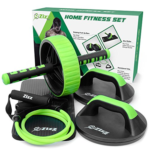 Zizz Fit Ultimate Fitness Equipment Set for Home Gym Exercise– Push Up...