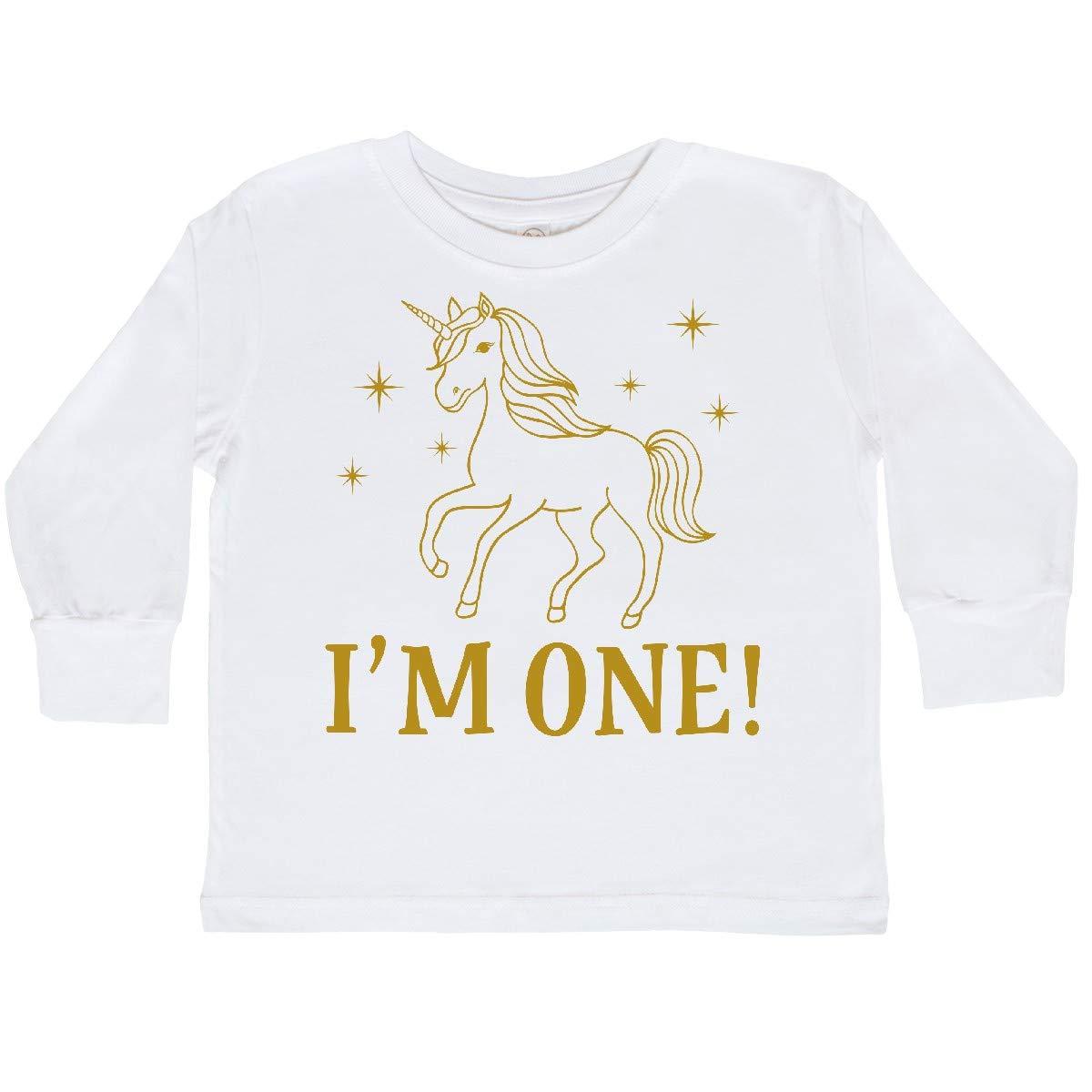 inktastic 1st Birthday Unicorn Toddler Long Sleeve T-Shirt