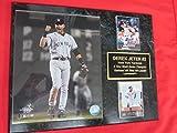 Yankees Derek Jeter 2 Card Collector Plaque w/ 8x10 Photo 2004 ALCS Fist Pump