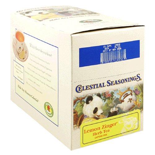 Celestial Seasonings Lemon Zinger Herbal Tea, K-Cups for Keurig Brewers, 24-Count Boxes (Pack of 2) by Celestial Seasonings