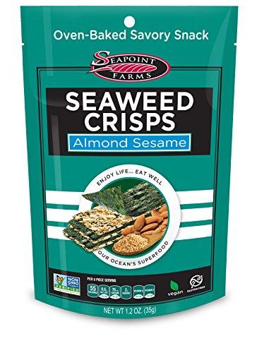 Almond Sesame Sea Salt Seaweed Crisps - Seapoint Farms (1.2 oz Pack of ()