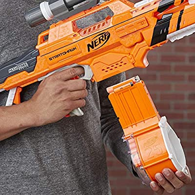 Nerf N-Strike Elite AccuStrike Stratohawk bundle with Nerf N-Strike Elite 30-Pack Dart Refill: Toys & Games