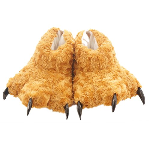 Aksautoparts Unisex Animal Cartoon Cosplay Costume Pantofole Scarpe Da Dinosauro Artiglio Scarpe Marrone