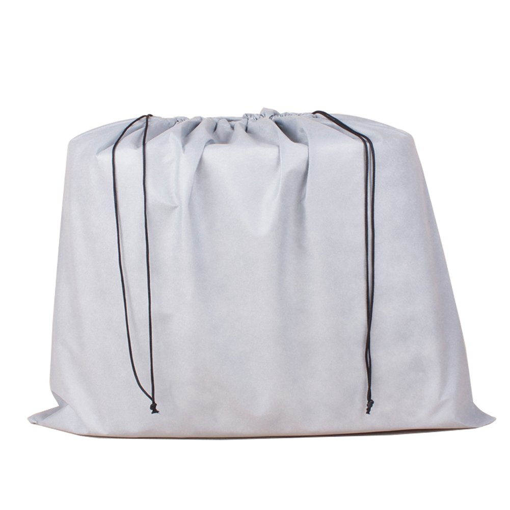 2 Piece Non-woven Breathable Dust-proof Drawstring Storage Pouch (Coffee) AUMEY