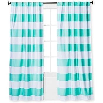 Amazon Com Twill Light Blocking Curtain Panel Stripe