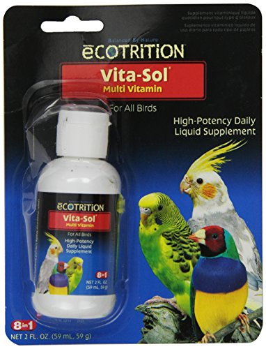 Vita Sol Vitamins - eCOTRITION Vita-Sol High Potency Multi-Vitamin Bird Supplement, 2-Ounce (D372)