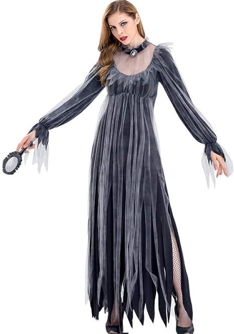 GBYAY Disfraz de Fantasma Femenino Horror Fantasma Vestido de ...