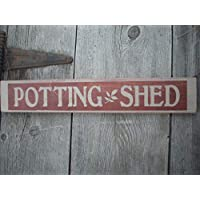 Potting Shed Sign Shabby Painted Wood Sign Gardening Sign Sign for Gardener