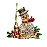 KIRKS FOLLY ARCTIC CHILL SNOWMAN PIN goldtone