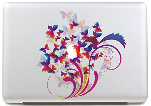 LoveDecalHome macbook decal sticker cover Lovely sticker Macbook sticker partial cover Macbook Pro 13 decal Skin flower Macbook Air 13 Sticker Macbook pro retina 13 decal