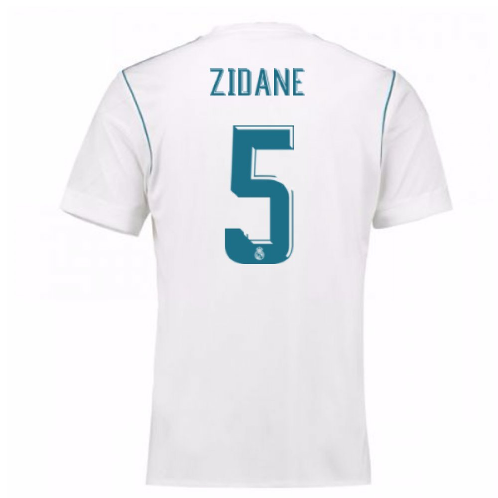 2017-18 Real Madrid Home Shirt (Zidane 5) B0785NRS5JWhite Large 42-44\