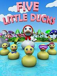 Five Little Ducks - Nursery Rhymes Video for Kids
