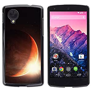 Qstar Arte & diseño plástico duro Fundas Cover Cubre Hard Case Cover para LG Google NEXUS 5 / E980 /D820 / D821 ( Sun Planet Eclipse Rise Red Planet Earth Space)