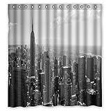 I Like Exercise Creative Fashion Cityscape New York Black White Wallpaper Shower Curtain