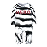 BIG ELEPHANT Baby Boys' One Piece Striped Long Sleeve Romper Pajama H39