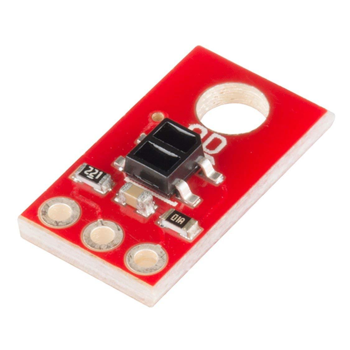 QRE1113 Desglose de l/ínea lineal Sensor reflectante infrarrojo IR Salida del m/ódulo digital con orificio de montaje Desglose del sensor de l/ínea