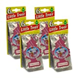 Little Trees auto air freshener, Sunberry Cooler, 6-packs (4 count)