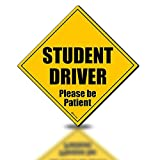 Zento Deals Reflective Student Driver Please Be Patient Magnetic Sign