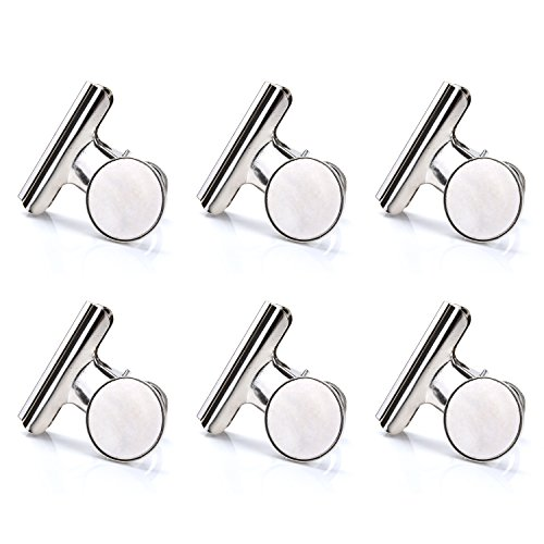 - Super Strong Refrigerator Magnetic Clips for Fridge, Coideal Silver Metal Medium Heavy-duty Magnetic Bulldog Hook Clips with Neodymium Magnet for Calendar, Photo, Home Kitchen Deco (2 inch, 6 Pack)