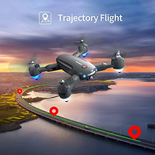 Drone with 1080P Camera for Adults, WiFi FPV Foldable Drone Quadcopter 30mins Flight Time,120°Wide-Angle with Carrying Bag, 2 Batteries,Gravity Sensor, Gesture Control, Easy to Use for Beginner