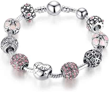 Presentski Fashion Charm Bracelet for Teen Girls and Women with Love Themed Amor Cupid Charms