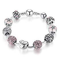 Presentski Fashion Charm Bracelet for Teen Girls and Women with Love Themed Amor Cupid Charms 7.1Inches
