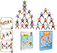 Wooden Stacking Blocks Balancing Game, Wooden Stacking Games Hercules Acrobatic Troupe Interlock Toys, Balanci