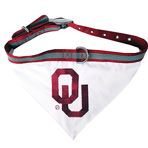 Pets First Collegiate Pet Accessories, Collar Bandana, Oklahoma Sooners, - Players Sooners Oklahoma