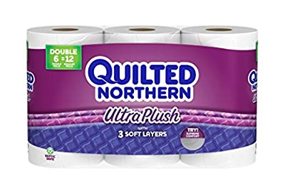 Quilted Northern Ultra Plush Toilet Paper, Bath Tissue, 6 Doubles Rolls