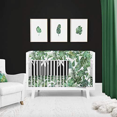 Tropical Palm 3 Piece Baby Nursery Crib Bedding Set