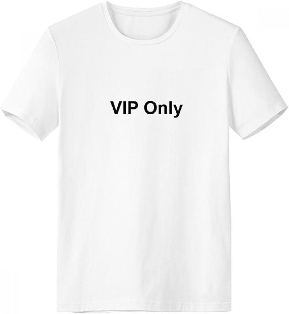 DIYthinker Sólo VIP configuración de símbolos Negro con cuello redondo de la camiseta blanca de manga corta Comfort Deportes camisetas de regalos - Multi -: Amazon.es: Ropa y accesorios