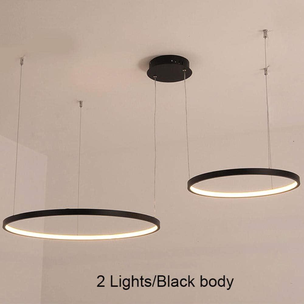 luces circulares para iluminaci/ón de ingenier/ía de dise/ño de interiores L/ínea colgar l/ámpara de l/ámpara de anillo LED-Color del cuerpo Black/_DIA 80CM/_Cold White l/ámpara de ara/ña LED