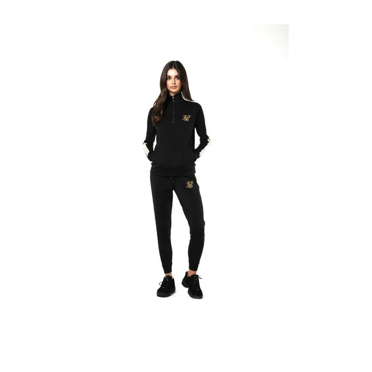 Sik Silk - SSW-1136 - Sudadera Mujer Logo Lateral (XS): Amazon.es ...