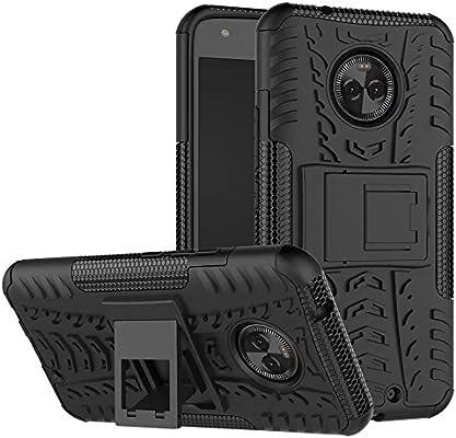 GOGME Funda para Motorola Moto X4, Armadura Híbrida Plegable Case, Negro: Amazon.es: Electrónica