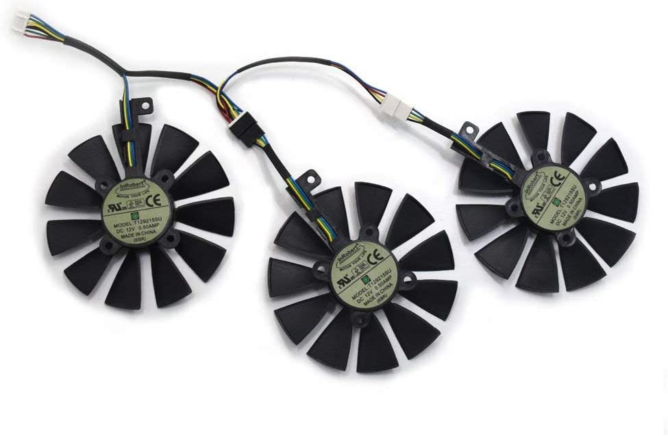 inRobert 87mm T129215SU Graphics Card Cooling Fan For ASUS STRIX GTX980Ti/R9390/RX480/RX580 Video Card Cooler (Fan-3pcs)