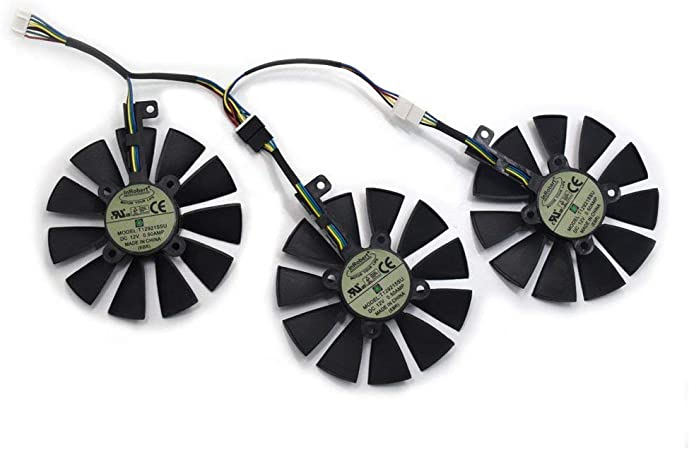 Fan-B inRobert 87mm T129215SU Graphics Card Cooling Fan for ASUS ROG Strix GTX1060//GTX1080//GTX1080TI//GTX1070 Video Card Cooler