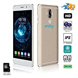 Indigi 2017 GSM UNLOCKED ANDROID 7.0 4G LTE 6'' IPS SCREEN [2SIM + QUAD-CORE + Fingerprint Scanner] Brushed Aluminum finish (Gold) + 32gb microSD Included