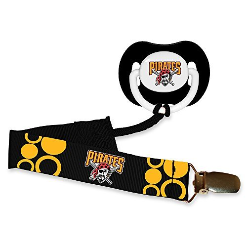 Baby Fanatic Pacifier with Clip, Pittsburg Pirates (Baby Pirate Pacifier)