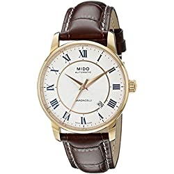 Mido Men's MIDO-M86002218 Baroncelli Analog Display Swiss Automatic Brown Watch